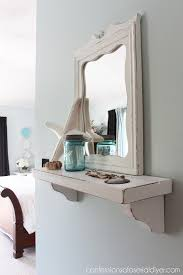 Mirror With Shelves by Cottage Inspired Mirror With Shelf Hometalk