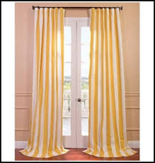 Yellow White Curtains Yellow And White Vertical Striped Curtains Tiny House