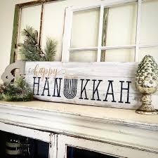 happy hanukkah signs wood plank sign lazy susan workshop many design
