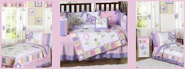 pink and purple butterfly girls kid and crib bedding