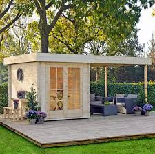 Backyard Office Building Home Office Where You Can Also Relax On Your Very Own Deck