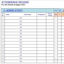 Attendance Spreadsheet Best Attendance Sheet In Excel