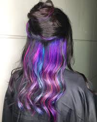 hidden rainbow hair is the trend you never knew you always wanted