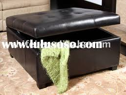 Leather Storage Ottoman Black Leather Storage Ottoman Sanblasferry