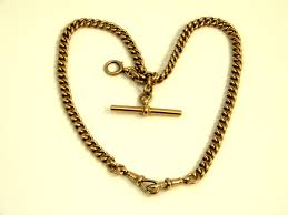 silver watch chain necklace images Vintage 9 ct rose gold albert watch chain necklace c 1920 jpg
