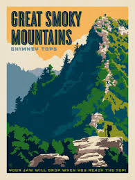 Smoky Mountains Map Anderson Design Group U2013 American National Parks U2013 Great Smoky