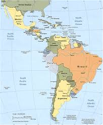 Puerto Rico On A Map by Political Map Of South And Central America