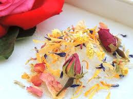 All Natural Flower Food Petite Floral Bath Affirmations Bath Salts Set Of 10 Single