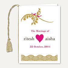 wedding ceremony cards wedding ceremony program book indian wedding stationery