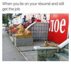 25 best memes about when you lie on your resume when you lie employment and careers series lying on the resume careers iaam