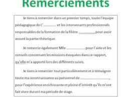 rapport de stage 3eme cuisine 10 exemples remerciement pfe mémoire ou rapport de stage