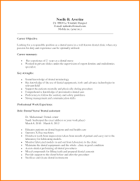 Sample Dental Resume by Sample Dental Assistant Resume Objectives 6 Media Templates