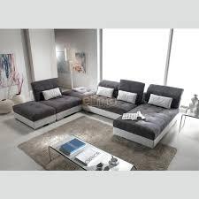 canapé modulable maison du monde canape modulables canape modulable en tissu gris et blanc avec