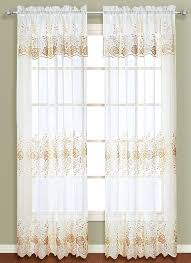Embroidered Curtain Panels Marianna Embroidered Curtain Panel With Attached Valance Curtain