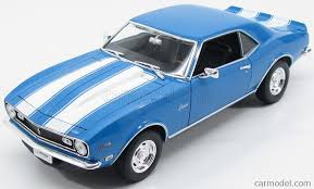 light blue camaro welly we12553lb scale 1 18 chevrolet camaro z28 coupe 1968 light