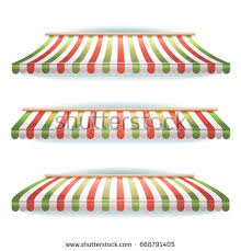 Awning Colors Green Red Striped Awnings Stock Vector 668791405 Shutterstock