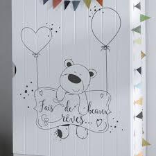 stickers nounours pour chambre bébé stickers decoratifs chambre enfant stickers citation enfant