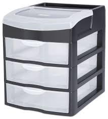 Desk Top Organizer by Sterilite 3 Drawer Black Desktop Unit Walmart Canada