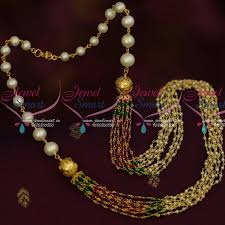 gold crystal beaded necklace images Nl13836 original fresh water hyderabad pearls red green crystal JPG