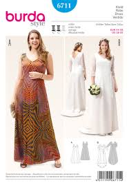 burda 6711 misses u0027 and plus size dress