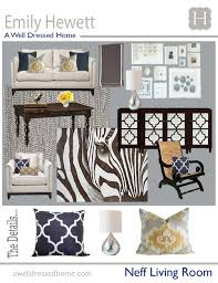 i like the various patterns used neff living room design board