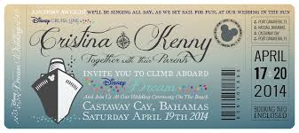 cruise wedding invitations disney cruise wedding invitations by great heights paper hearts