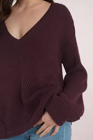 maroon sweater how v neck wine sweater 35 tobi us