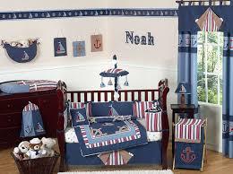 cheap navy blue nautical sail boat themed 9p baby boy crib bedding