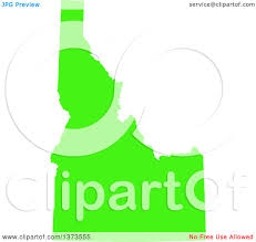 Map Of Idaho State by Clipart Of A Lyme Disease Awareness Lime Green Colored Silhouetted