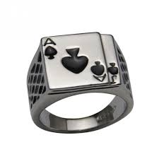 cool mens rings hot sale cool mens jewelry chunky silver plated black enamel