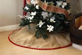 burlap tree skirt with pom pom fringe burlapbabe