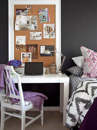 Cork Board Decorative Frame Home Office Bedside Table In Amazing Eclectic Bedroom Design With