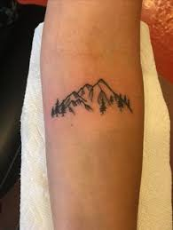 i really want these pine tree and mountains tattoo stuff