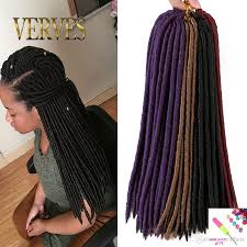 Human Hair Loc Extensions by Wholesale Verves Faux Locs Crochet Hair Mix Color Dreadlocks