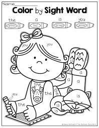 thanksgiving activity sheets for kindergarten color by sight word december pinterest kindergarten