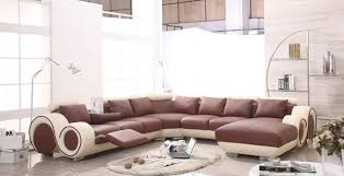 sofa graceful modern leather sectional sofa with recliners u