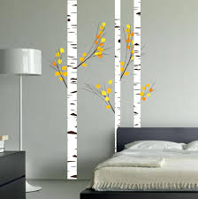 birch tree forest set vinyl wall decal realistic leaves 1273 1273 birch tree wall bedroom decal jpg