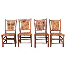 Hickory Dining Room Chairs by Set Of Four Signed Old Hickory Dining Chairs At 1stdibs