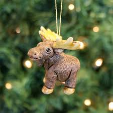 mini moose ornament peru fair square imports