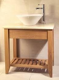 Wash Basin Vanity Unit Alto Solid Oak Wooden Cabinet Sink Washbasin Bathroom Sink Vanity