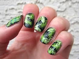 nail art fall leaf nail art weed art4 clover artfall artfernleaf