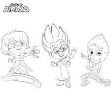 printable pj masks party coloring page get coloring pages