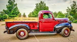 Vintage Ford Truck Gifts - 1945 dodge half ton pickup truck classic car photography by