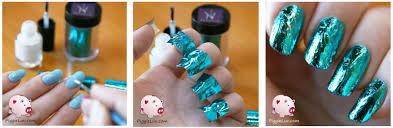 piggieluv nail foil tutorial from kkcenterhk