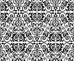 Black And White Designs Damask Pattern Clip Art Free The Cliparts
