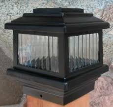 solar 4x4 wood deck post light lights