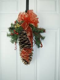 sugar pine cone door swag 15 00 via etsy christmas