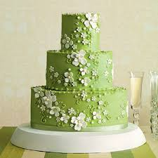 wedding cake green bright green wedding cake with dogwood blossoms a wedding cake