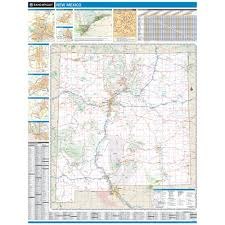 New Mexico Map With Cities And Towns by Rand Mcnally New Mexico State Wall Map