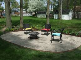 Rock Patio Design Pea Gravel Patio Design All Home Design Ideas Interesting Pea